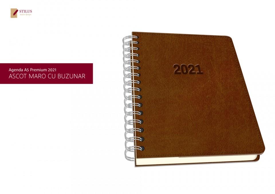 Galerie foto Agenda A5 Premium 2021 cu buzunar