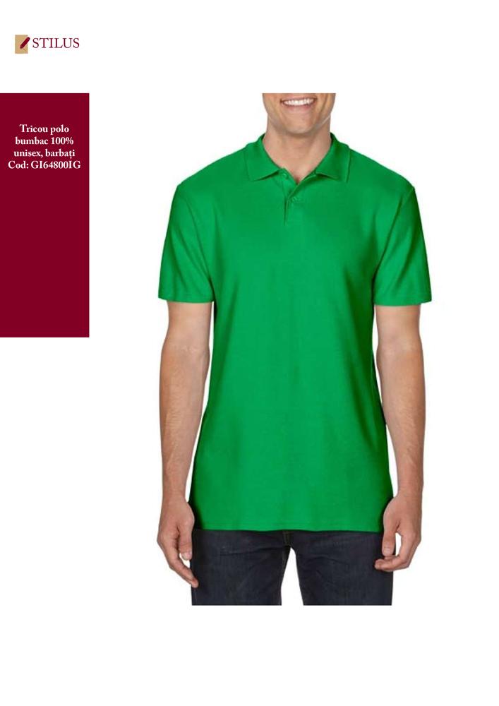 Galerie foto Tricou polo barbati verde irish