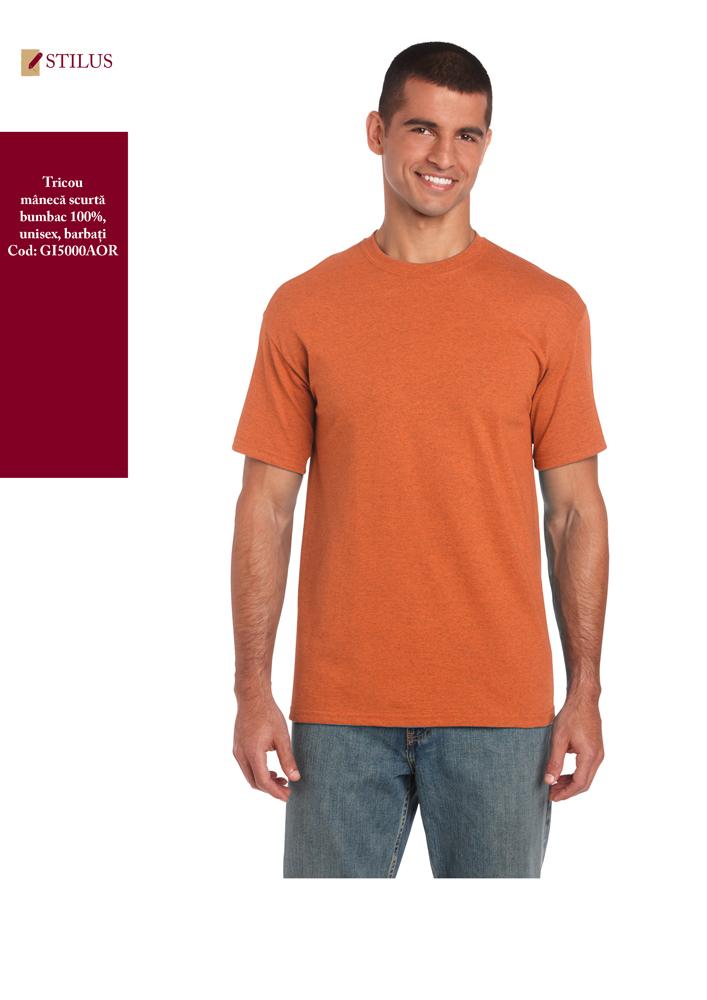 Galerie foto Tricou portocaliu cu maneca scurta