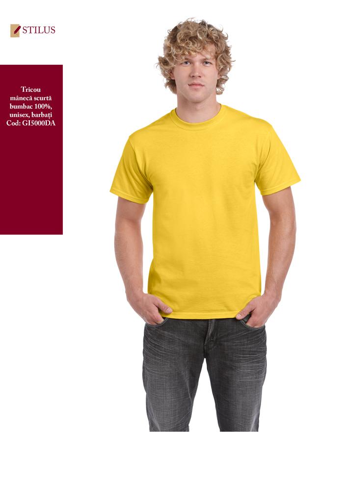 Galerie foto Tricou cu maneca scurta 100% bumbac galben