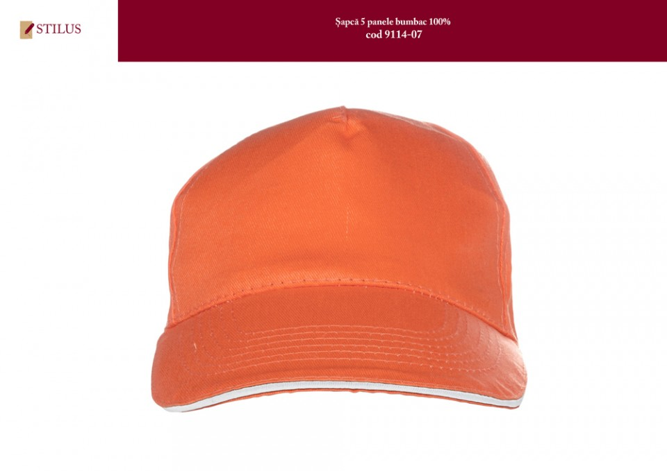 Galerie foto Sapca portocalie din bumbac