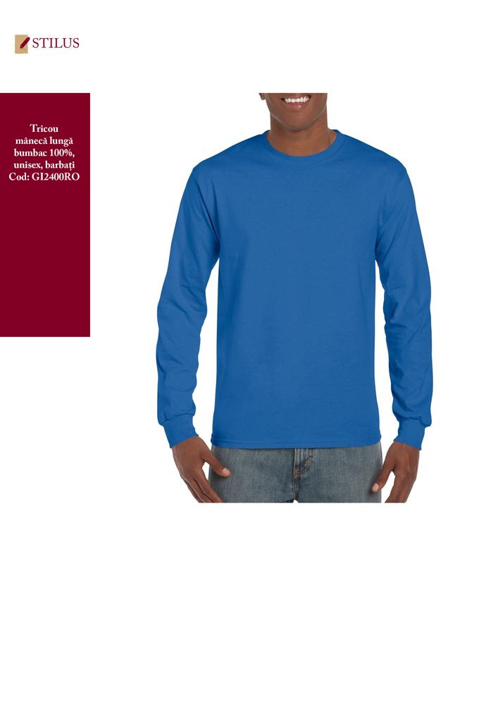 Galerie foto Tricou cu maneca lunga albastru royal