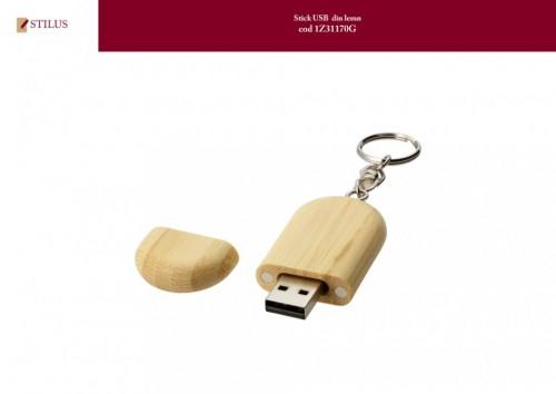 Stick USB din lemn