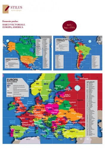 Harti vectoriale Europa, America