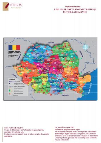 Harta administrativa si rutiera a Romaniei