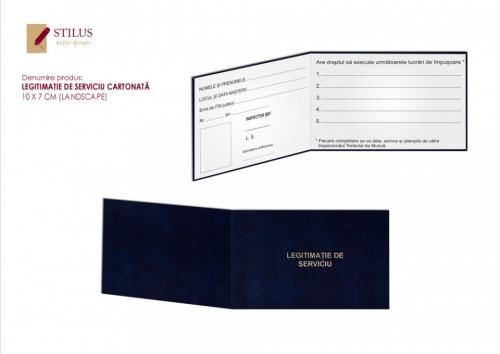 Legitimatie de serviciu cartonata albastra