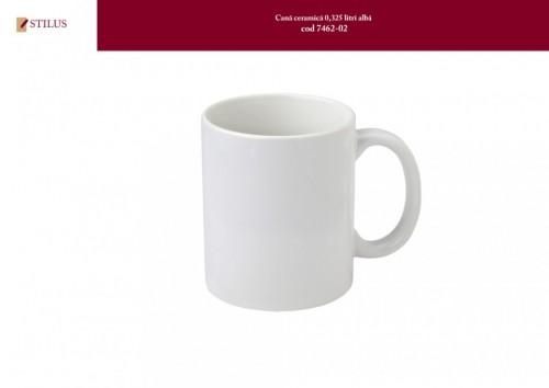 Cana alba 325 ml din ceramica