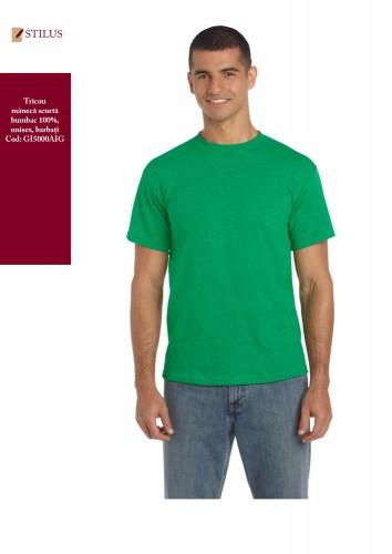 Tricou verde irish cotton 100%