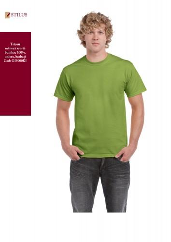 Tricou clasic verde kiwi