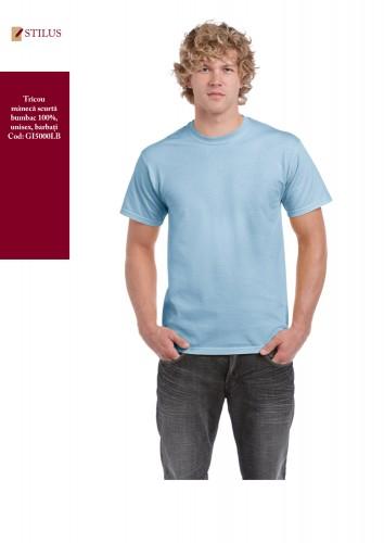 Tricou cu maneca scurta light blue