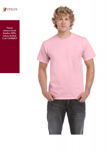 Tricou clasic unisex barbati roz