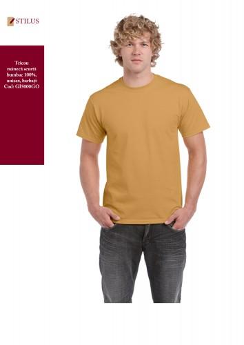 Tricou clasic barbati gold