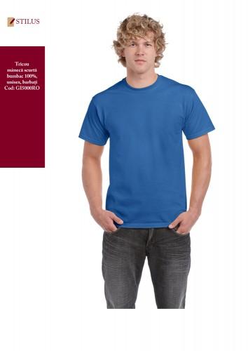 TRicou clasic albastru royal bumbac