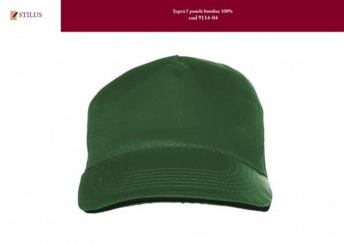Sapca verde cotton 100% inchidere cu velcro