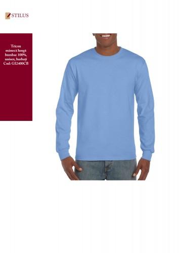 Tricou cu maneca lunga cotton blue carolina