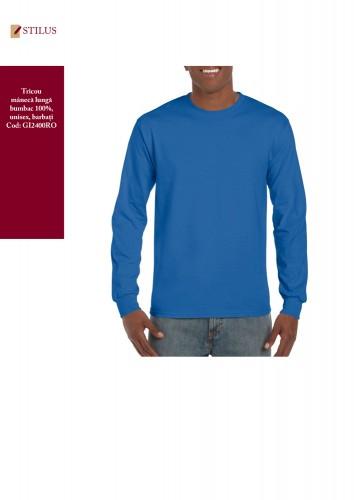 Tricou cu maneca lunga albastru royal