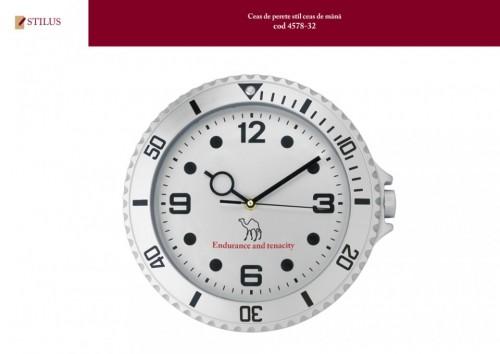 Ceas de perete personalizat pe cadran